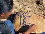 rock art in the dry garden